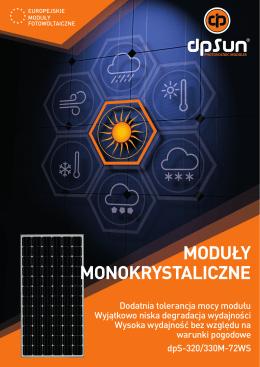 moduły monokrystaliczne