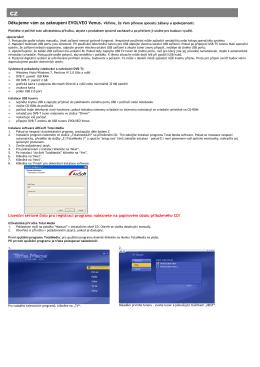 Licenční sériové číslo pro registraci programu naleznete na