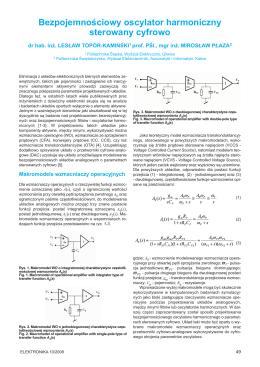 Bezpojemnościowy oscylator harmoniczny sterowany - SIGMA-NOT