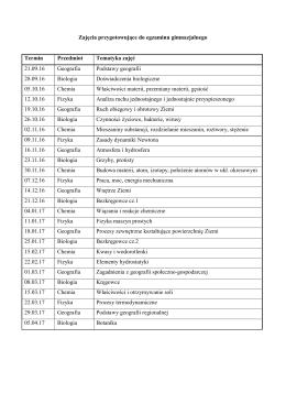 konkurs przedmiotowy biologia gimnazjum testy