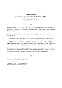 Uchwała Nr 0665-2016