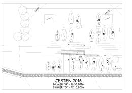 Plan dotyczący części trawiastej od strony jeziorka