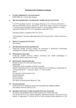 Charakterystyka środka farmaceutycznego
