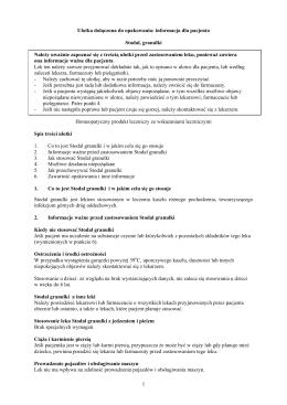 Ulotka dołączona do opakowania: informacja dla pacjenta Stodal