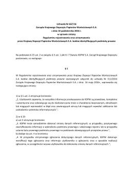 Uchwała Zarządu KDPW S.A. nr 667/2016
