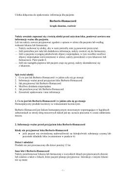 Berberis-Homaccord - Wyszukiwarka produktów leczniczych