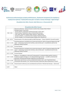 Program konferencji - Związek Miast Polskich