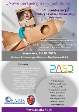 Reklama IV Konferencja - Polska Akademia Stomatologii Dziecięcej