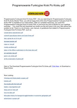 programowanie funkcyjne krok po kroku pdf