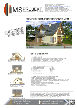 projekt projekt projekt - MSProjekt Mateusz Sobczyk