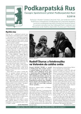 Podkarpatská Rus - stránky společnosti přátel podkarpatské rusi