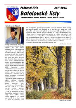 Batelovské listy - podzimní 2016