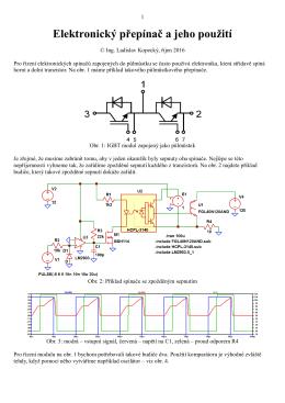 Elektronický přepínač a jeho použití