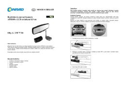 překlad - 1307704 - couvací kamera ProUser