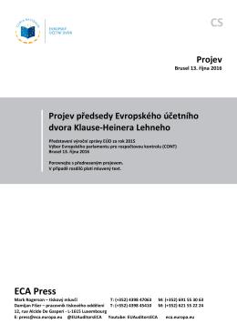 Představení výroční zprávy EÚD za rok 2015, Výbor
