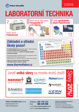 laboratorní technika - Fisher Scientific sro