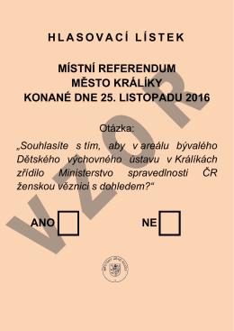 Hlasovací lístek VZOR