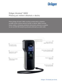 Informace o výrobcích: Dräger Alcotest® 5820