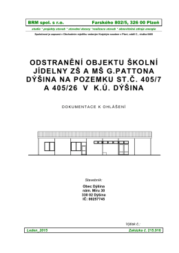 PD - Obec Dýšina