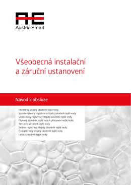 Návod k instalaci AE