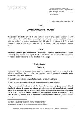 Návrh - Ministerstvo životního prostředí