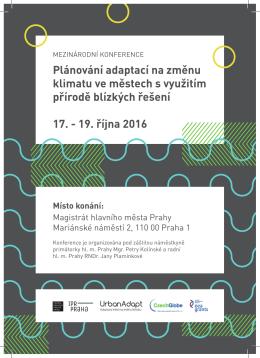 Program konference projektu UrbanAdapt