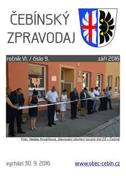 září 2016 - Obec Čebín