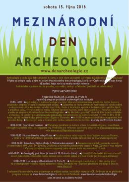 Žijeme archeologií - Mezinárodní den archeologie