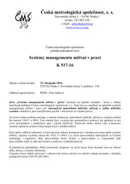Česká metrologická společnost, zs