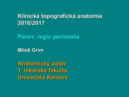 Anatomie - Anatomický ústav 1. LF UK
