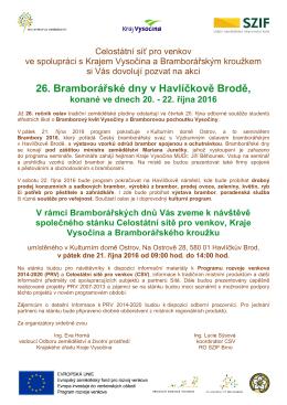 26. Bramborářské dny v Havlíčkově Brodě, konané ve dnech 20.