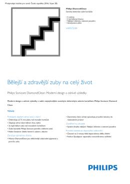 Product Leaflet: Sonický zubní kartáček, 5 režimů