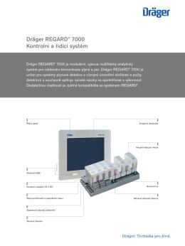 Dräger REGARD® 7000 Kontrolní a řídící systém