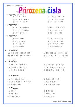 Algebraické výrazy – výrazy s proměnnou