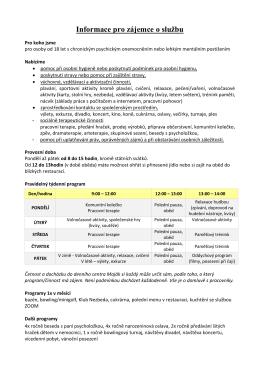 Informace pro zájemce o službu