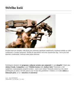 Střelba kuší - Rob design, s.r.o.