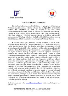 Další informace - Krajská hospodářská komora Střední Čechy