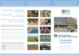 studium - Česká zemědělská univerzita v Praze