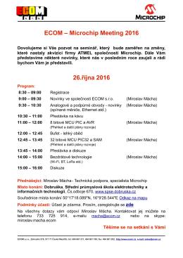 ECOM – Microchip Meeting 2016 26.října 2016