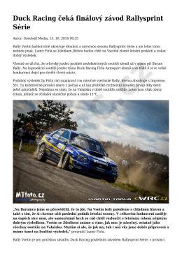 Duck Racing čeká finálový závod Rallysprint Série