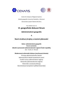 VI. geografické diskusní fórum