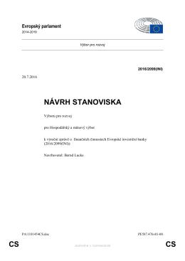 CS CS NÁVRH STANOVISKA