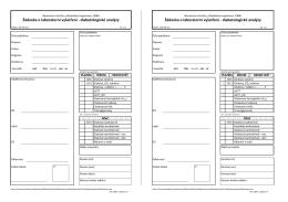Žádanka o laboratorní vyšetření - Nemocnice Ivančice, příspěvková