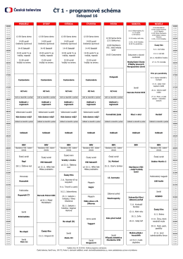 ČT 1 - programové schéma