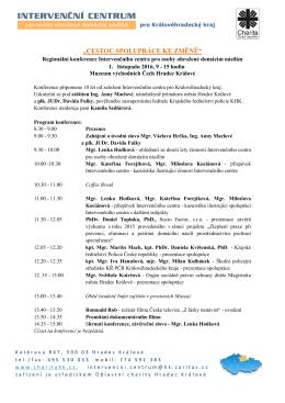 Přihlášku na konferenci - Oblastní charita Hradec Králové