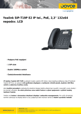 "Yealink SIP-T19P E2 IP tel., PoE, 2,3"" 132x64 nepodsv"