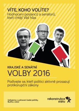 Krajské a senátní volby 2016 - leták