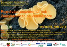 Poznávání podzimních hub – Zamykání lesa na