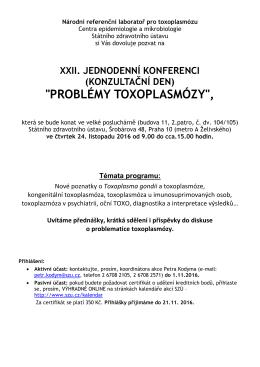 Národní referenční laboratoř pro toxoplasmózu