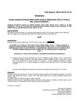 Stáhnout PDF - Exekutorský úřad Praha 6